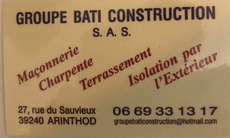 Logo de groupe bâti construction, société de travaux en Rénovation des charpentes