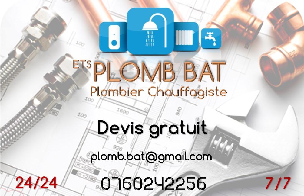 Logo de Plomb bat, société de travaux en Plomberie : installation ou rénovation complète