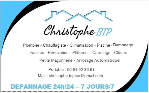 Logo de christophebtp, société de travaux en Travaux de plomberie salle de bains