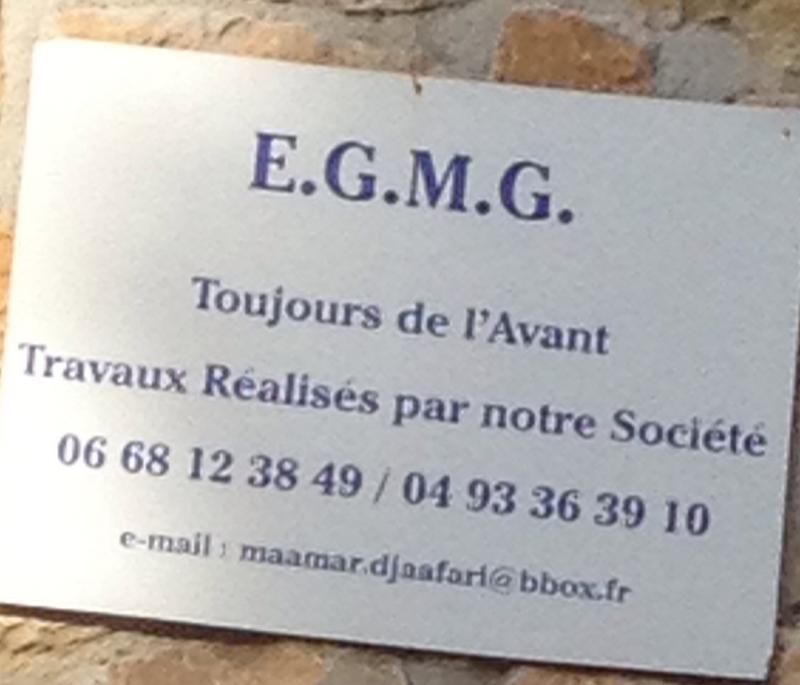 Logo de EGMG06CONSTRUCTIONS, société de travaux en Construction, murs, cloisons, plafonds