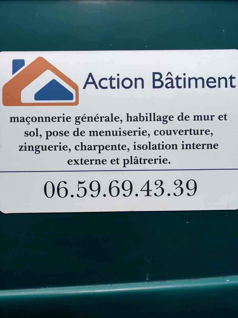 Logo de Action bâtiment, société de travaux en Rénovation ou changement de votre couverture de toit