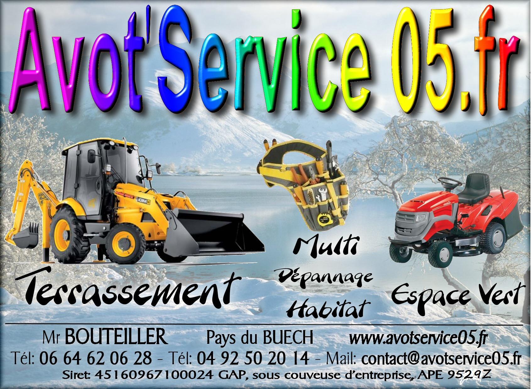 Logo de avot'service05, société de travaux en Entretien de jardin (ponctuel ou à l'année)