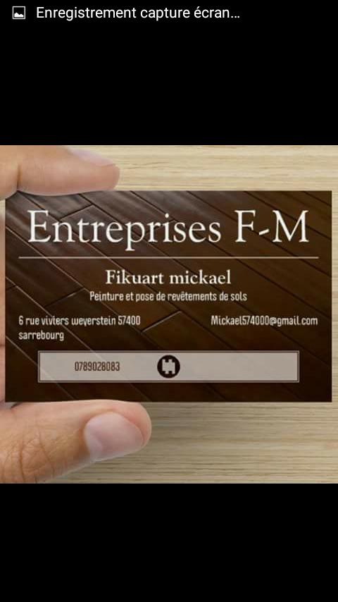 Logo de Entreprises F-M, société de travaux en Peinture : mur, sol, plafond