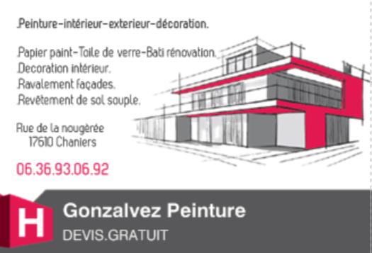 Logo de Gonzalvez.peinture, société de travaux en Peinture : mur, sol, plafond