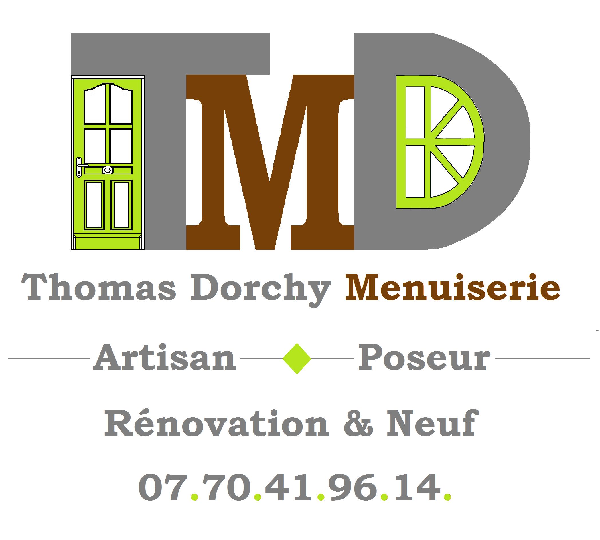 Logo de TMD thomas Dorchy Menuiserie, société de travaux en Fourniture et remplacement de porte ou fenêtre en PVC