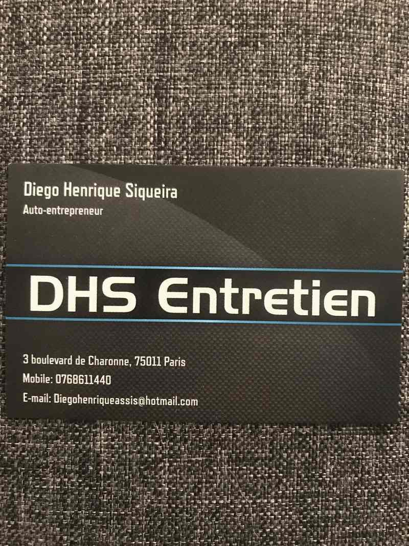 Logo de DHS entretien, société de travaux en Nettoyage industriel