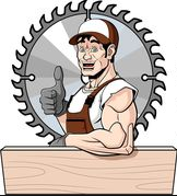 Logo de menuiserie bois pvc, société de travaux en Fourniture et remplacement de portes intérieures