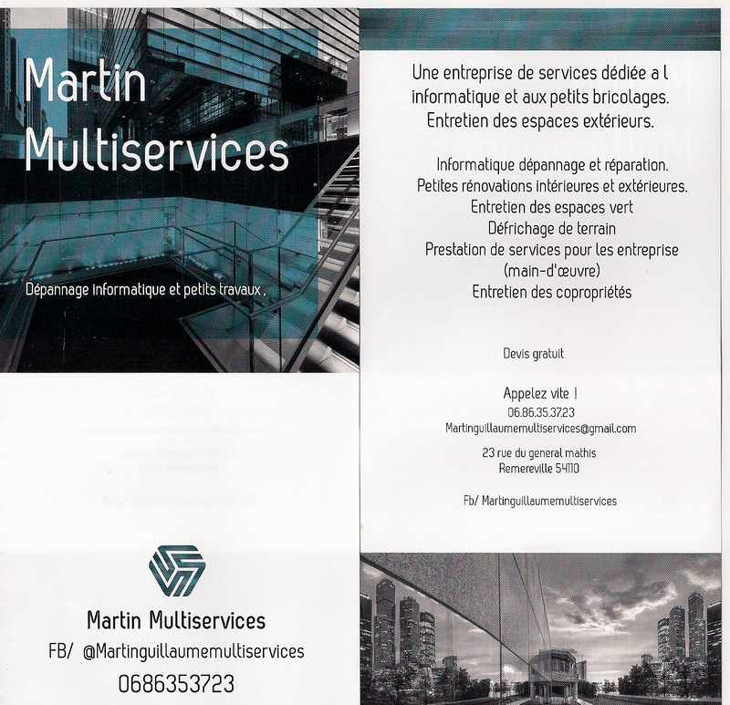 Logo de martinmultiservices, société de travaux en Petits travaux en électricité (rajout de prises, de luminaires ...)