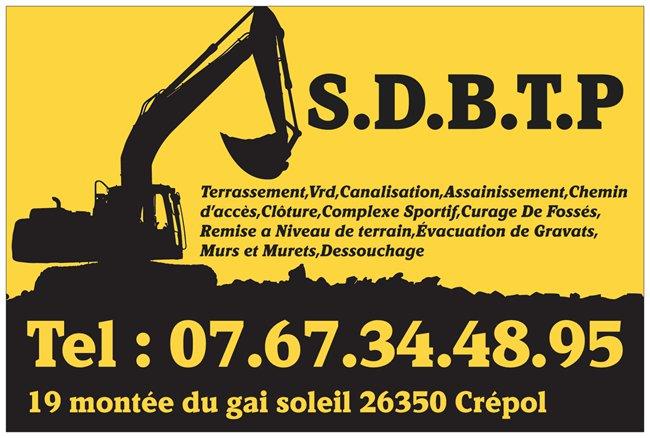 Logo de S.D.B.T.P, société de travaux en Construction, murs, cloisons, plafonds