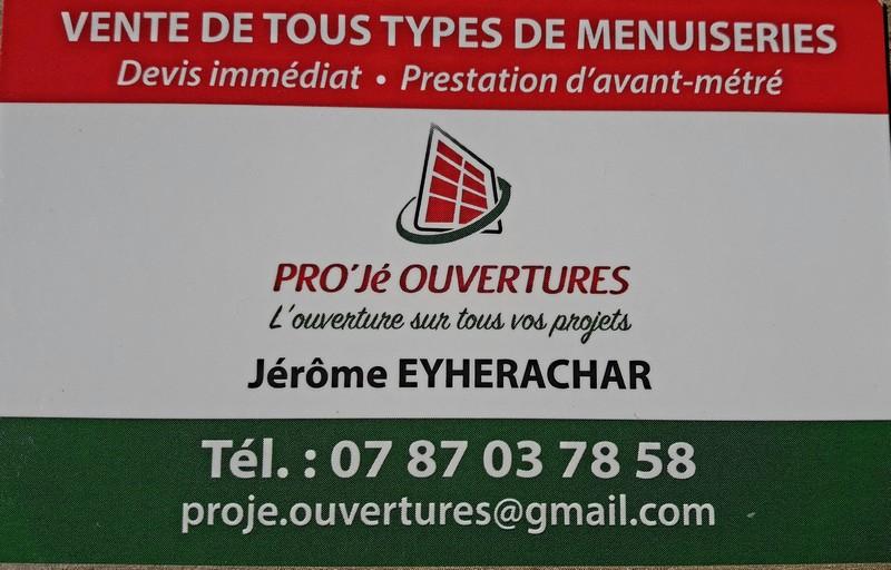 Logo de PRO'Jé OUVERTURES, société de travaux en Fourniture et installation de Volets roulant