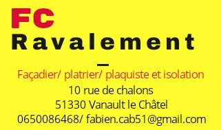 Logo de FC RAVALEMENT, société de travaux en Construction, murs, cloisons, plafonds en plaques de plâtre