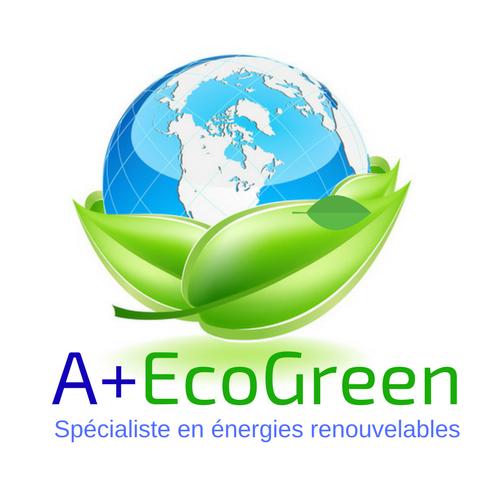 Logo de A+ecogreen, société de travaux en Production électrique : photovoltaïque / éolien