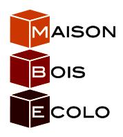 Logo de Maison Bois Ecolo - MBE Bains, société de travaux en Construction de maison en bois