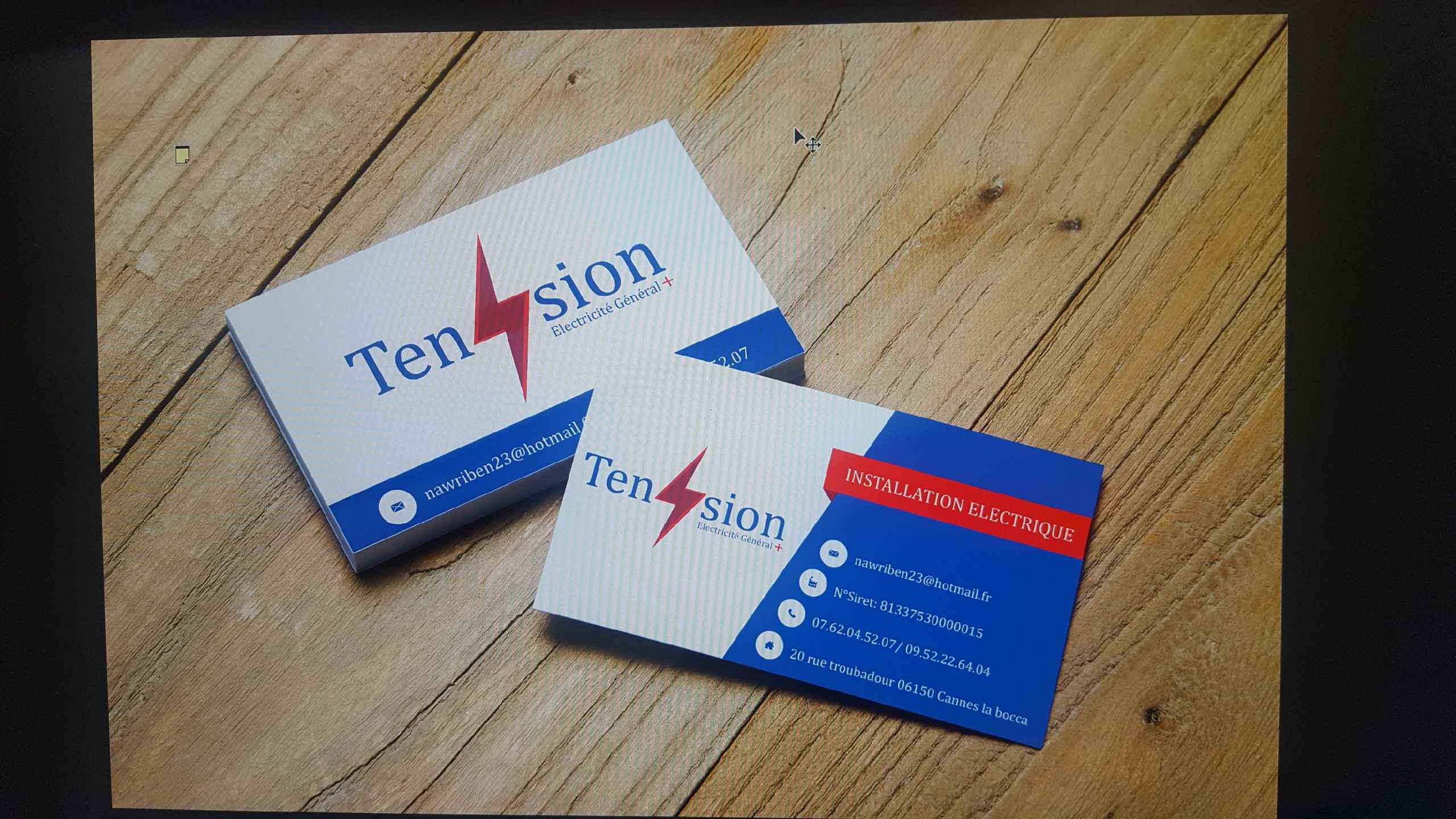 Logo de Tension+, société de travaux en Dépannage électrique