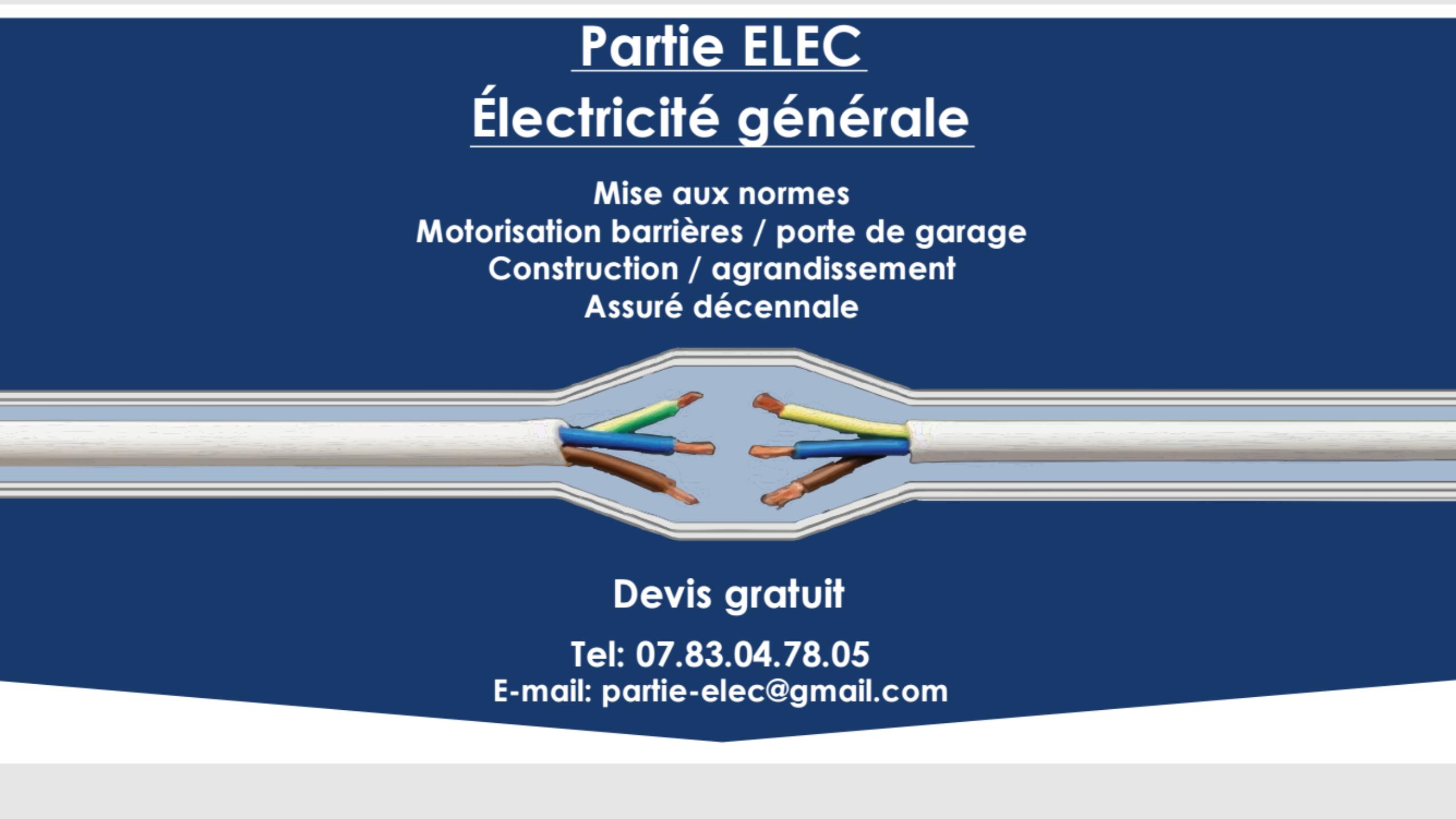 Logo de PARTIE.ELEC, société de travaux en Installation électrique : rénovation complète ou partielle