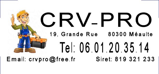 Logo de CRV-PRO, société de travaux en Fourniture et installation de lavabos, baignoires, douches, WC...