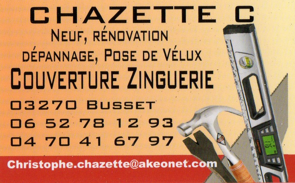 Logo de chazettez, société de travaux en Couverture complète (tuiles, ardoises, zinc)