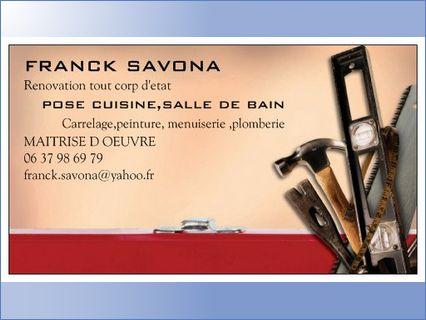 Logo de FRANCK SAVONA, société de travaux en Création complète de salle de bains