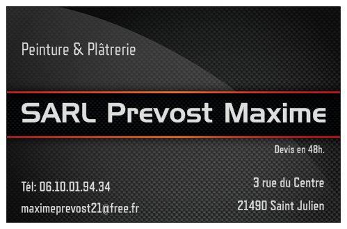 Logo de SARL Prévost Maxime, société de travaux en Rénovation complète d'appartements, pavillons, bureaux