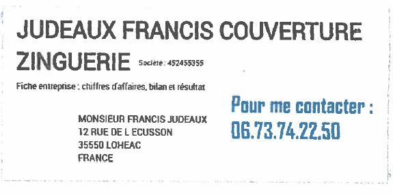 Logo de JUDEAUX FRANCIS, société de travaux en Réparation antenne