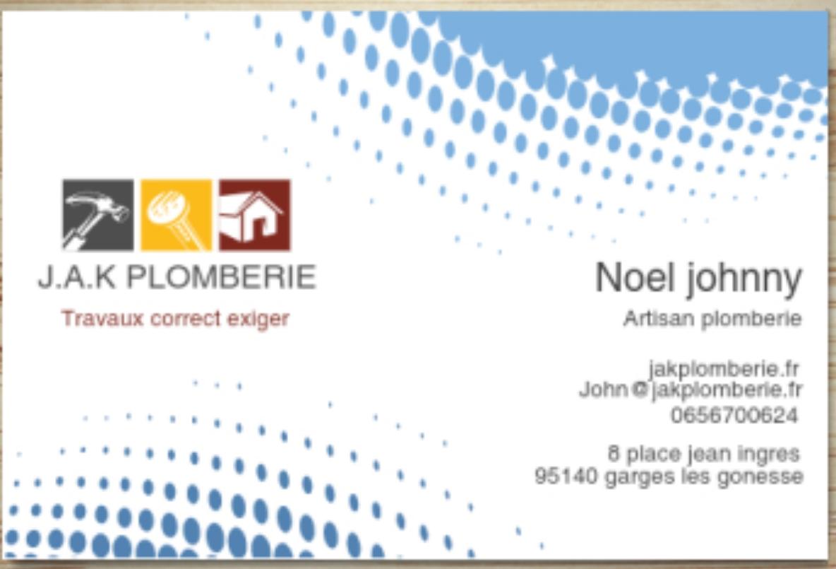Logo de J.A.K PLOMBERIE, société de travaux en Fourniture et installation d'éviers, de lavabos
