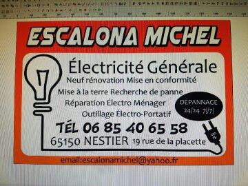 Logo de escalona michel électricité générale, société de travaux en Antenne TV : réparation, fourniture ou pose