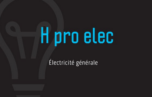 Logo de H pro elec, société de travaux en Domotique