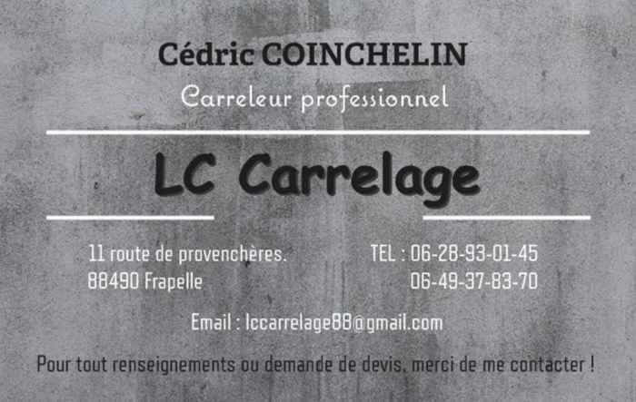 Logo de LC Carrelage, société de travaux en Fourniture et pose de carrelage