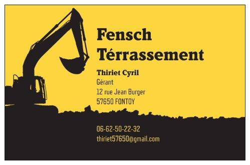 Logo de Fensch Terrassement, société de travaux en Création de jardins, pelouses et de parcs