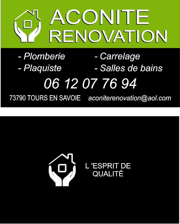 Logo de Aconite Rénovation, société de travaux en Plomberie : installation ou rénovation complète