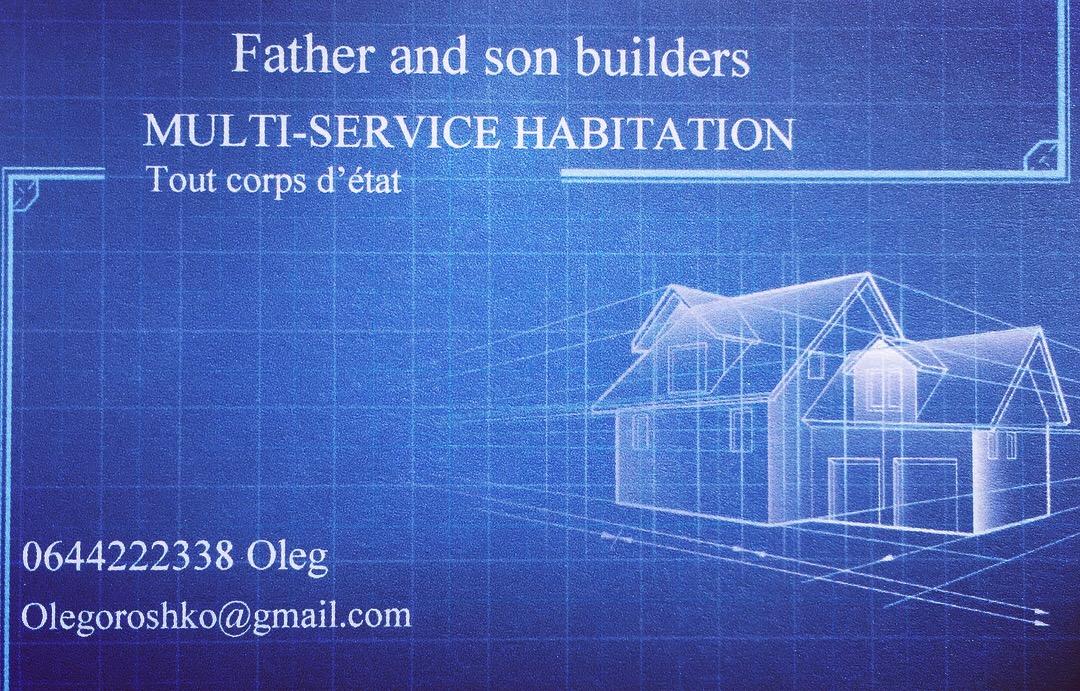 Logo de Fatherandsonbuilders, société de travaux en Création complète de salle de bains