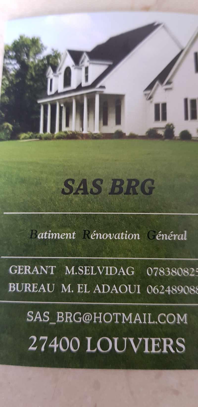 Logo de Sas BRG, société de travaux en Construction, murs, cloisons, plafonds en plaques de plâtre