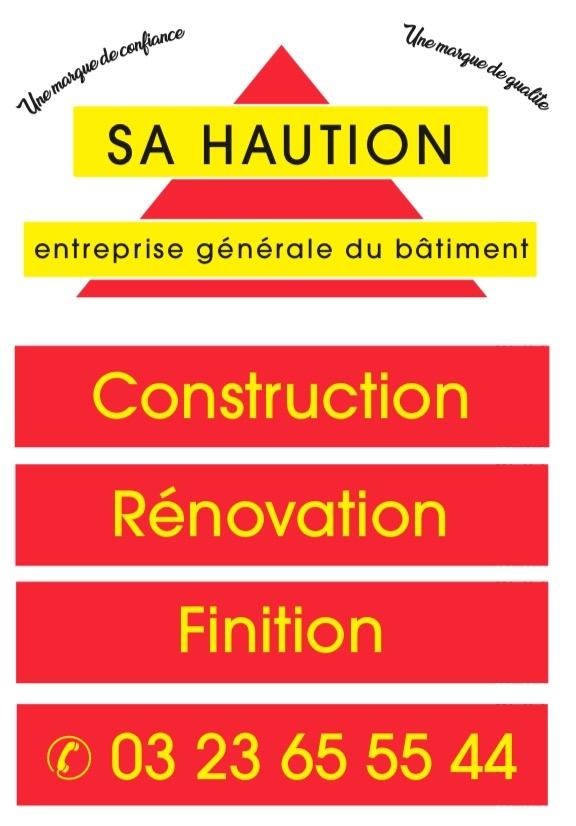 Logo de SA HAUTION, société de travaux en Construction, murs, cloisons, plafonds en plaques de plâtre