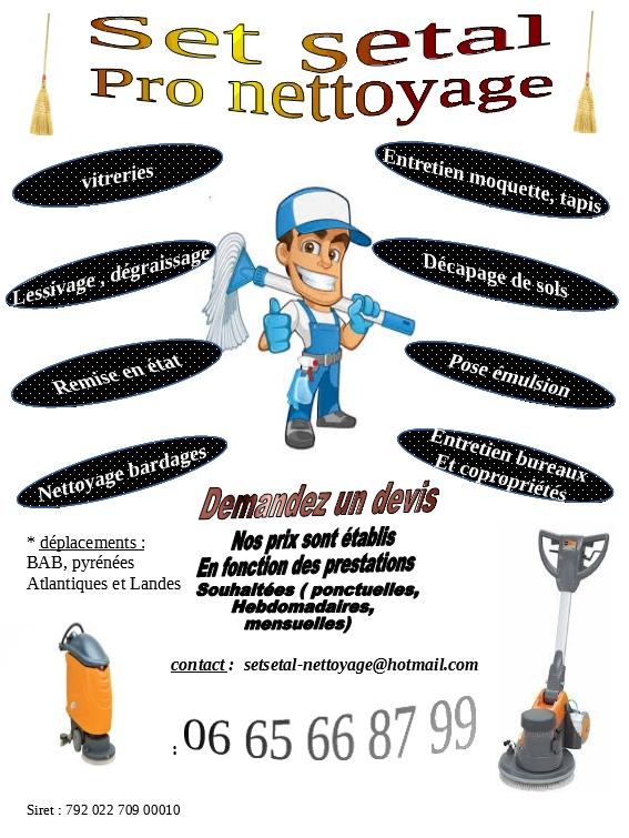 Logo de set setal pro nettoyage, société de travaux en Nettoyage industriel