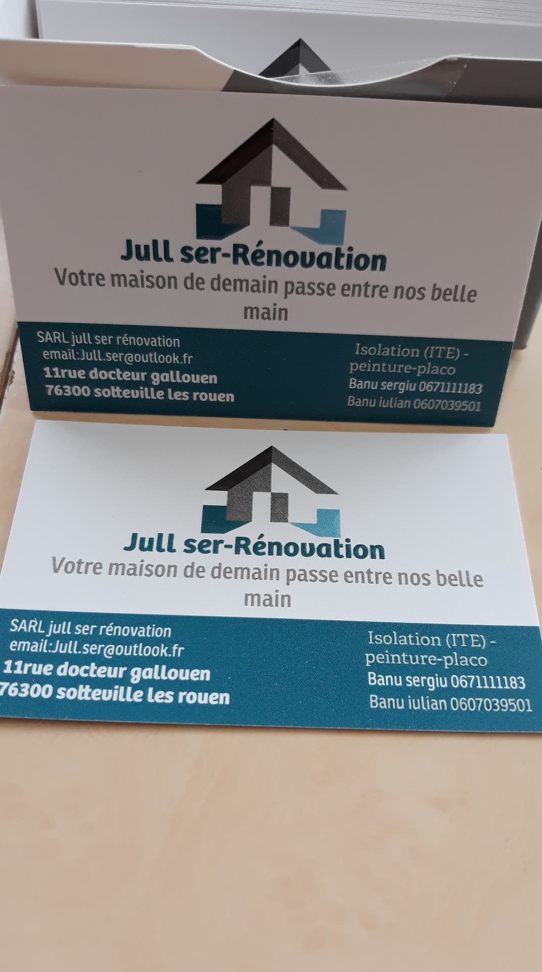 Logo de jull ser renovation, société de travaux en Peinture : mur, sol, plafond