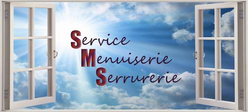 Logo de Service Menuiserie Serrurerie, société de travaux en Fourniture et remplacement de porte ou fenêtre en aluminium