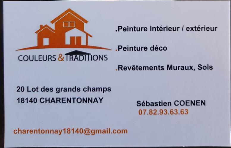 Logo de Couleurs et traditions à charentonnay18140, société de travaux en Peinture : mur, sol, plafond