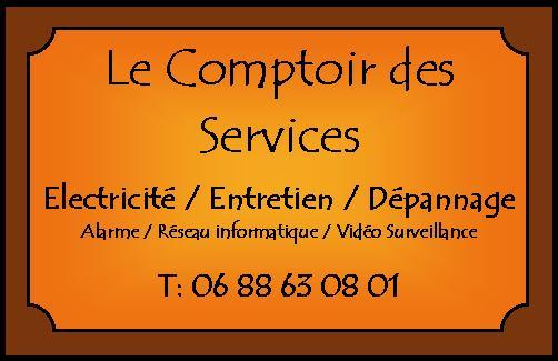 Logo de LE COMPTOIR DE SERVICES, société de travaux en Alarme domicile