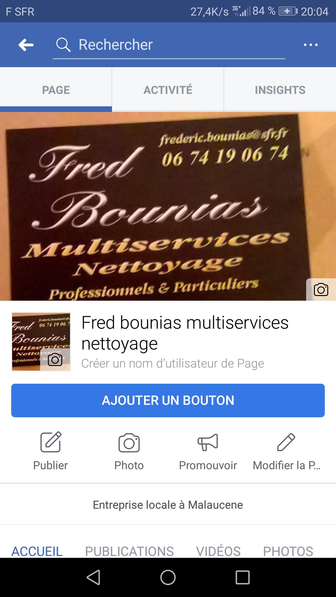 Logo de Frede bounias multiservices nettoyage, société de travaux en Nettoyage de vitre
