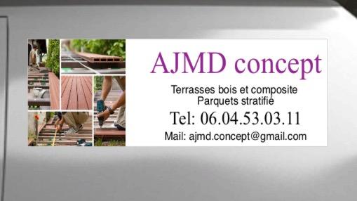 Logo de AJMD CONCEPT, société de travaux en Fourniture et remplacement de porte ou fenêtre en PVC