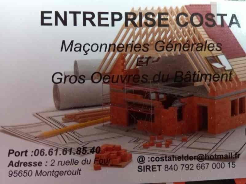 Logo de Entreprise costa, société de travaux en Construction de maison