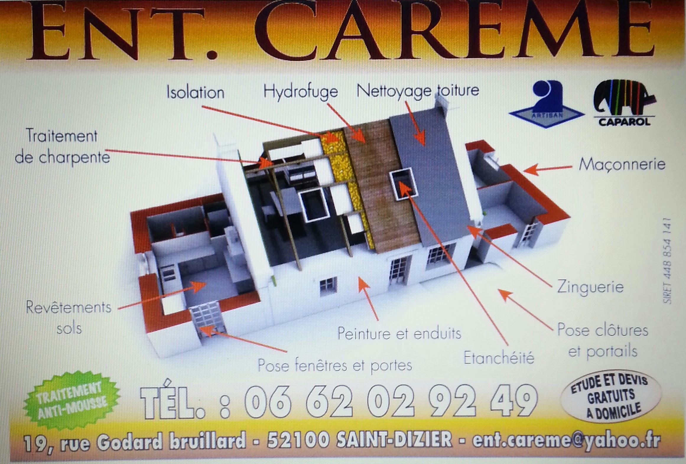 Logo de Ent.careme, société de travaux en Etanchéité - Isolation des toitures