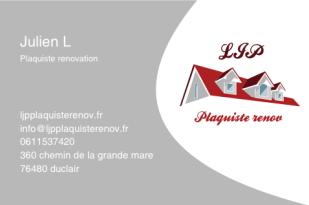 Logo de LJP, société de travaux en Construction, murs, cloisons, plafonds