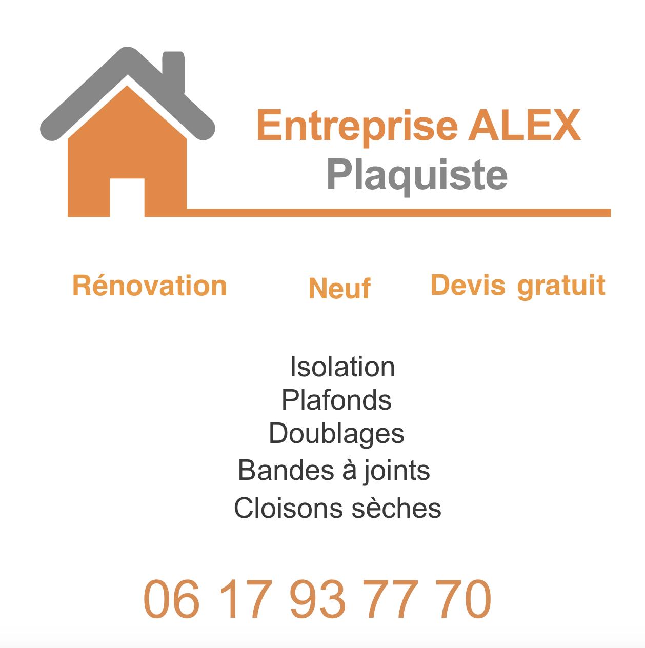 Logo de Alex, société de travaux en Construction, murs, cloisons, plafonds en plaques de plâtre