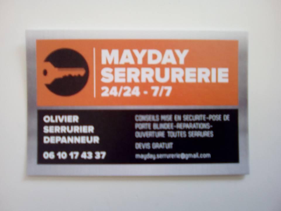 Logo de mayday, société de travaux en Fourniture et changement de serrures intérieures / extérieures