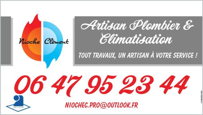 Logo de PLOMBERIE - CLIM NIOCHE, société de travaux en Fourniture et pose d'un climatiseur