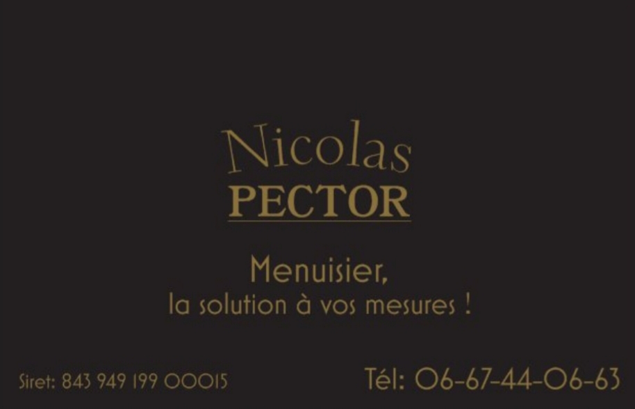 Nicolas PECTOR Menuisier, la solution à vos mesures !