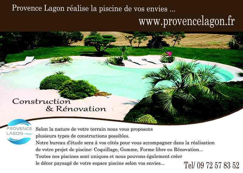 Logo de PROVENCE LAGON, société de travaux en Construction de piscines