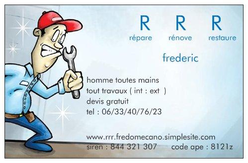 Logo de répare rénove restaure, société de travaux en Porte de garage