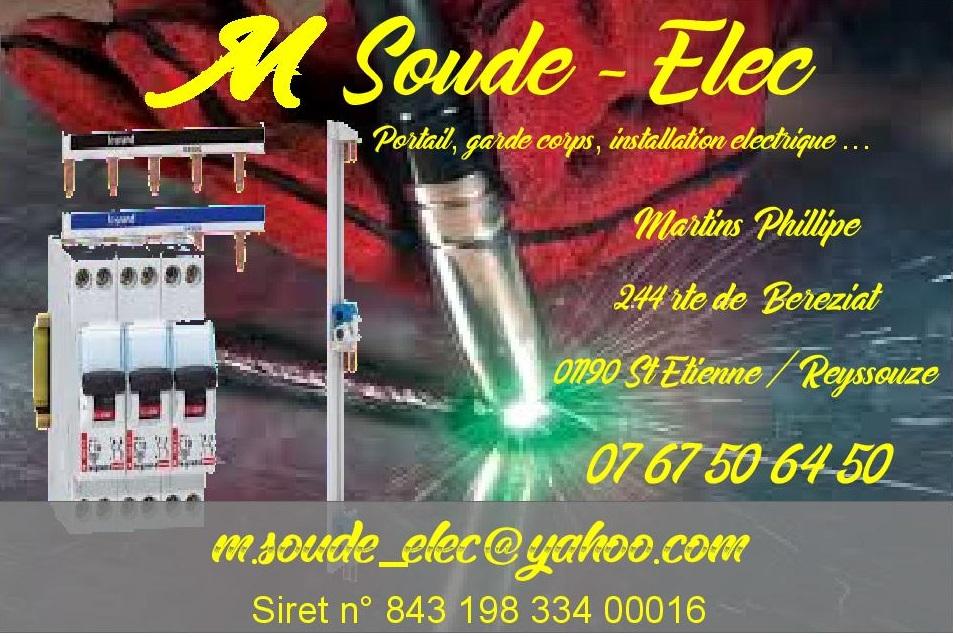 Logo de m soude elec, société de travaux en Portail : fourniture et installation